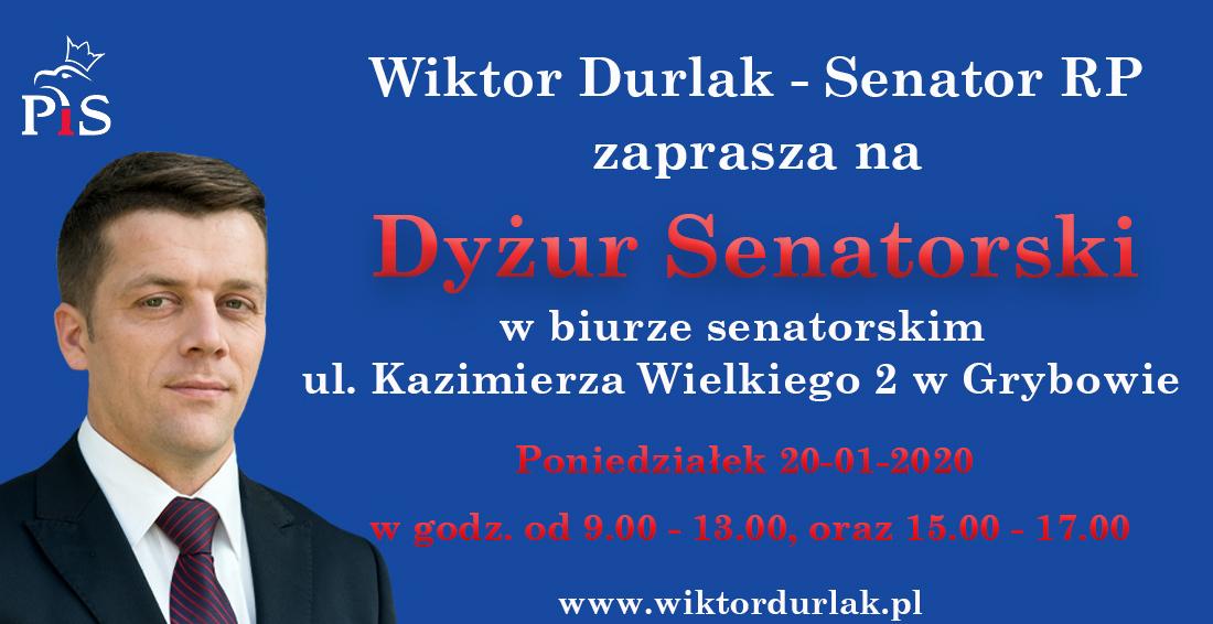 Senator Wiktor Durlak Dyżur