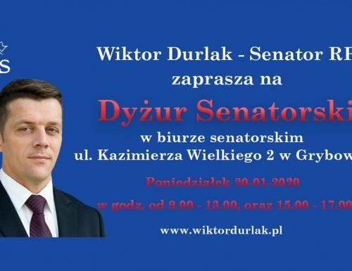 Dyżur Senatorski – 20 stycznia 2020, Grybów ul. Kazimierza Wielkiego 2