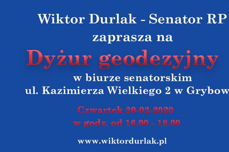 Dyżur geodezyjny – 20.02.2020