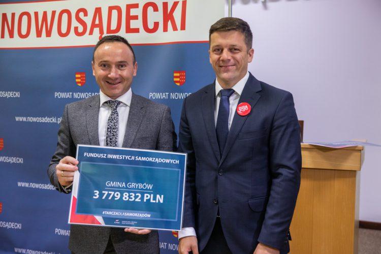 Blisko 40 mln zł dla gmin  Powiatu Nowosądeckiego z Funduszu Inwestycji Samorządowych.