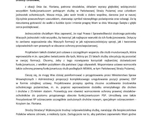 List_Ministra_Mariusza_Kamińskiego_PSP_OSP